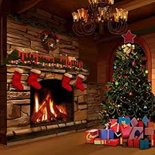 christmas backdrop gladsbuy christmas fireplace 10 x 10 computer