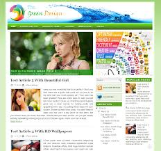 thehtd green design seo optimized blogger template free download