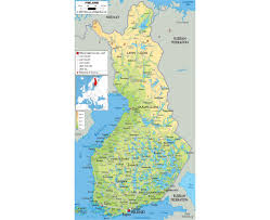 Russia Physical Map Physical Map by Maps Of Finland Detailed Map Of Finland In English Tourist Map