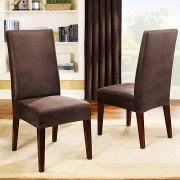 Dining Room Chair Slipcovers by Sure Fit Soft Suede Short Dining Room Chair Covers Walmart Com