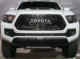 toyota tacoma 2016 pictures toyota tacoma 2016 2018 oem trd pro matte black grille insert
