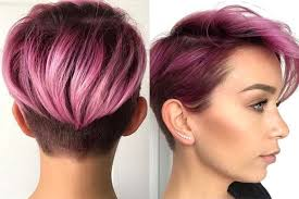 short purple hairstyles 2017 fashion and women