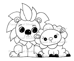 lion lamb coloring page kids drawing and coloring pages marisa