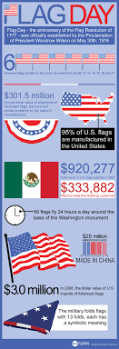 flag day facts and figures about the american flag infographic