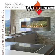 Modern Outdoor Gas Fireplace by Woodbridge Fireplace 30 Years Of Experience In Design And