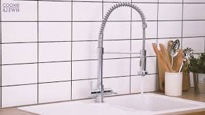cooke and lewis pull out spray mono mixer kitchen tap chrome