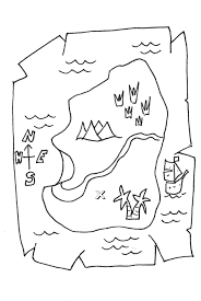 Blank Pirate Map Template by Pirate Map Coloring Page