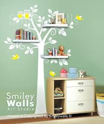 Wall Tree Decals For Nursery Decorating Nursery Walls Shelf Tree Wall Decal Children Wall Decal