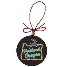 portland white stag ornament made in oregon
