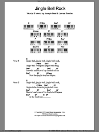 jingle bell rock sheet music for piano solo chords lyrics
