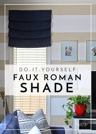 Mock Roman Shade Valance - diy faux roman shades the homes i have made