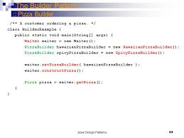 builder pattern in java 8 java design patterns 1 department of computer science and software