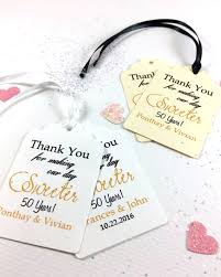 anniversary favors 20 thank you for our day sweeter party favor tags 50 year