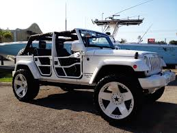 white jeep 4 door uas jeep wrangler on rockstars automotive customization