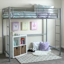 How To Build A Loft Bed With Desk Underneath by Walker Edison Twin Metal Loft Bed Multiple Colors Walmart Com
