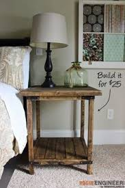 side tables bedroom simple square side table free diy plans table plans rogues and