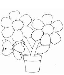 download coloring pages draw easy flowers