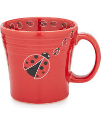 fiesta ladybug tapered ceramic mug made by homer laughlin china