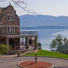 adirondack wedding venues view of lake george and two hotel pools from the sagamore s third