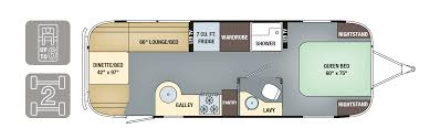 Airstream Travel Trailers Floor Plans 2017 airstream international serenity 27fb can am rv centre