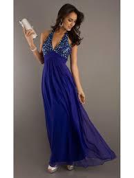 v neck chiffon blue long evening prom formal party maternity