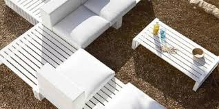 White Modern Outdoor Furniture by Modern Outdoor Furniture Archives Backyard Mastery