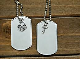 Personalized Dog Tags For Couples Couples Bracelet Set His Hers Stamped Custom Personalized Gift Wedding