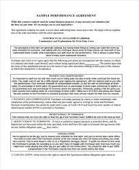 artist agreement contract sample 9 examples in word pdfartist