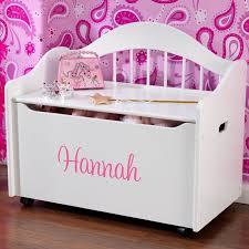 Kidkraft Storage Bench Personalized Limited Edition Toy Box White By Kidkraft