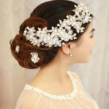 hair accessories for indian brides handmade headdress with pearl wedding accessories flower