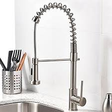 brushed nickel single handle kitchen faucet vccucine best modern commercial brushed nickel pull out sprayer