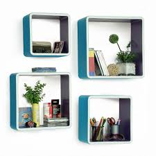 trista my blue paradise rectangle leather wall shelf