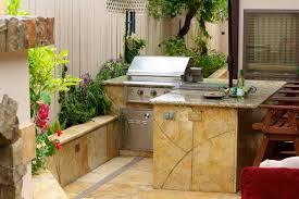 kitchen style stone countertops small refrigerator barbecue