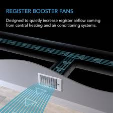 register air booster fan ac infinity airtap t4 quiet register booster fan with thermostat