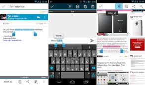 android copy paste tip copy cut paste icons in jelly bean and sandwich