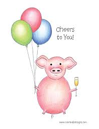 Greetings Card Designer Jobs 3 00 Pig Greeting Card Appropriate For Retirement Graduation