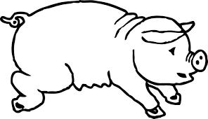 pig drawings clip art 43