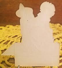 mint unused vintage halloween art deco party placecard unknown
