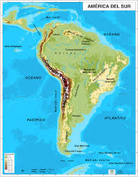 Central America Physical Map by Of South America In Spanish