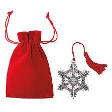 2017 snowflake pewter ornament avon