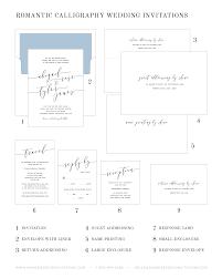 Wedding Invitation Reply Card Romantic Calligraphy Wedding Invitations Wedding Invitations By
