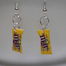 food earrings kawaii miniature food earrings mini m m peanut candy