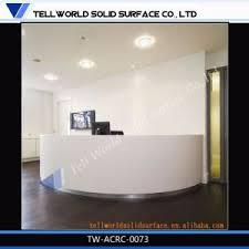 White Salon Reception Desk China Commercial Artificial Stone High Quality White Salon