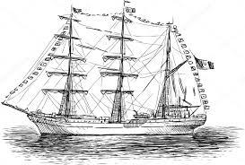 sailing ship sketch u2014 stock vector samakarov mail ru 103573030