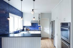 White And Blue Kitchen - blue and white interiors living rooms kitchens bedrooms and more