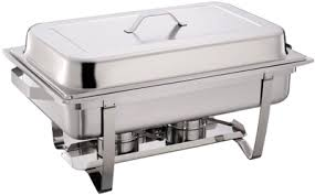rectangular stackable full size chafing dish set w gn 1 1 food pan