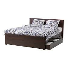 bed frames ikea brusali bed frame with 4 storage boxes full