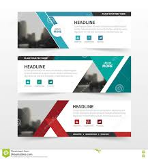 red green blue polygon corporate business banner template