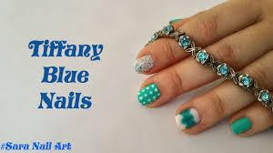 tiffany blue nails nail art tutorial sara nail art youtube