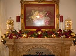 decorating magnificent christmas fireplace mantel decor